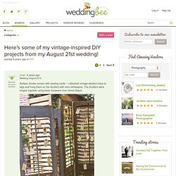 Here's some of my vintage-inspired DIY projects from my August 21st wedding!