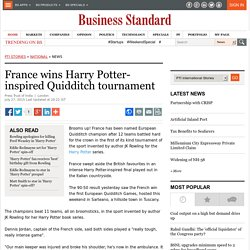 France wins Harry Potter-inspired Quidditch tournament