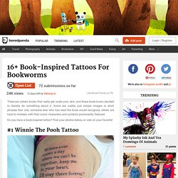 16+ Book-Inspired Tattoos For Bookworms