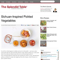 Sichuan-Inspired Pickled Vegetables