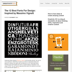 The 12 Best Fonts For Design: Inspired by Massimo Vignelli - Creativity 101
