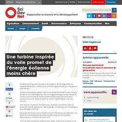 Une turbine inspirée du voile promet de l'énergie éolienne moins chère