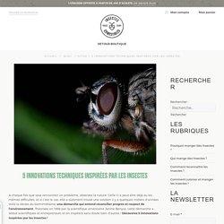 Les insectes nous inspirent : 5 innovations inspirées par les insectes