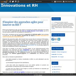 S'inspirer des approches agiles pour innover en RH ?