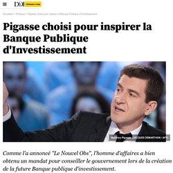 Pigasse choisi pour inspirer la Banque Publique d'Investissement - 30 août 2012