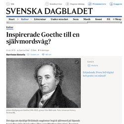 Inspirerade Goethe till en självmordsvåg?