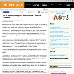 Art in Schools Inspires Tomorrow's Creative Thinkers