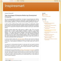 Inspiresmart: Take Advantage of Enterprise Mobile App Development Companies