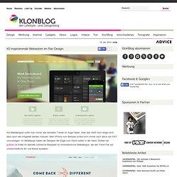 40 inspirierende Webseiten im Flat-Design