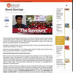 The Inspiring Story of How a Kolkata Youth Is Making Sure No One Dies of Blood Shortage - AbbloodAbblood
