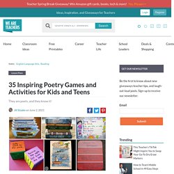 30 Inspiring Poetry Games and Activities for the Classroom