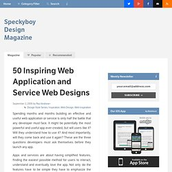 50 Inspiring Web Application and Service Web Site Designs : Spec