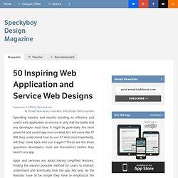 50 Inspiring Web Application and Service Web Site Designs : Spec