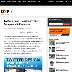 Twitter Design - Inspiring Twitter Background & Resources | Onextrapixel - Showcasing Web Treats Without A Hitch