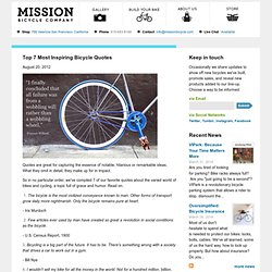 Top 7 Most Inspiring Bicycle Quotes