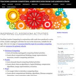 Teaching London Computing: A RESOURCE HUB from CAS LONDON