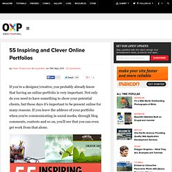 55 Inspiring and Clever Online Portfolios