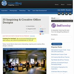 25 Inspiring & Creative Office Designs