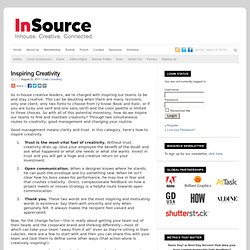 Inspiring Creativity : InSource