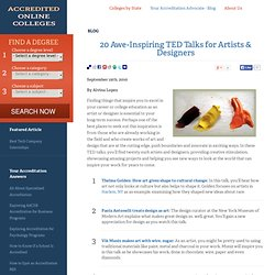 20 Awe-Inspiring TED Talks for Artists & Designers