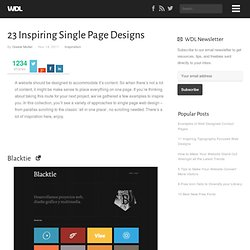 23 Inspiring Single Page Designs