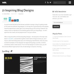 21 Inspiring Blog Designs