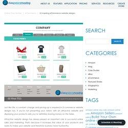 10 inspiring eCommerce website designs