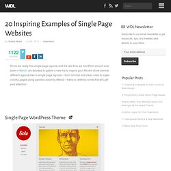 20 Inspiring Examples of Single Page Websites