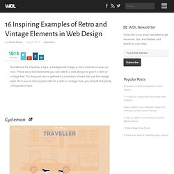 16 Inspiring Examples of Retro and Vintage Elements in Web Design