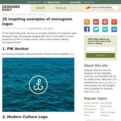 25 inspiring examples of monogram logos