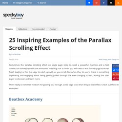 25 Inspiring Examples of the Parallax Scrolling Effect