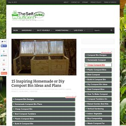 15 Inspiring Homemade or Diy Compost Bin Ideas and Plans