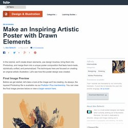 Make an Inspiring Artistic Poster with Drawn Elements