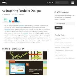 50 Inspiring Portfolio Designs