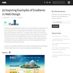 55 Inspiring Examples of Gradients in Web Design