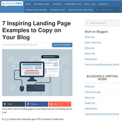 7 Inspiring Landing Page Examples to Copy on Your Blog