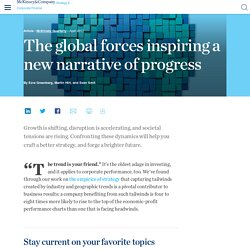 The global forces inspiring a new narrative of progress