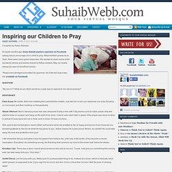 Inspiring our Children to Pray