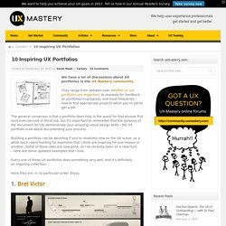 10 Inspiring UX Portfolios -UX Mastery