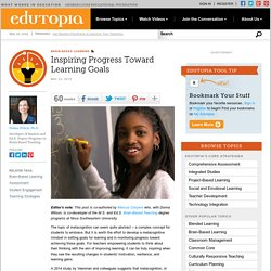 Inspiring Progress Toward Learning Goals