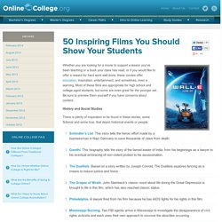 50 Inspiring Films You Should Show Your Students | Online Colleg