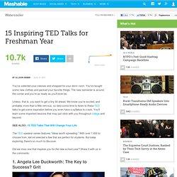 15 Inspiring TED Talks