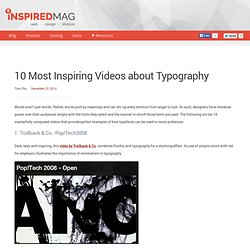 10 Most Inspiring Videos about Typography