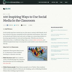 100 Inspiring Ways to Use Social Media In the Classroom