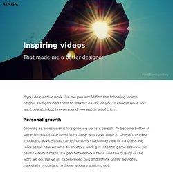 Inspiring videos – Aenism