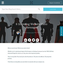 8 Inspiring Website Hero Messages