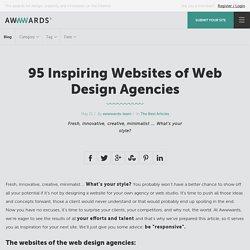95 Inspiring Websites of Web Design Agencies