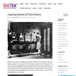 Inspiring Women Of Tech History