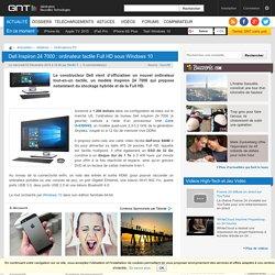 Dell Inspiron 24 7000 : ordinateur tactile Full HD sous Windows 10