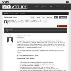 [GUIDE] Dell Inspiron 17R - 7720 SE - Mac OS X Yosemite 10.10.1 - User Guides - OSXLatitude Forum